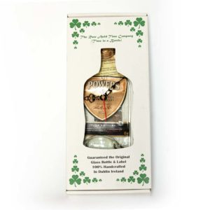 powers whiskey bottle clock in box