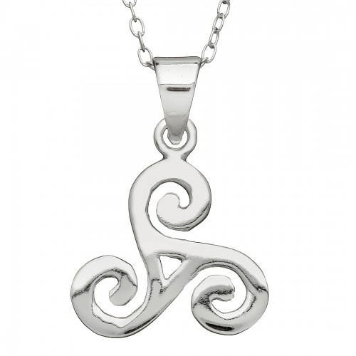 Triple Spiral Pendant Large